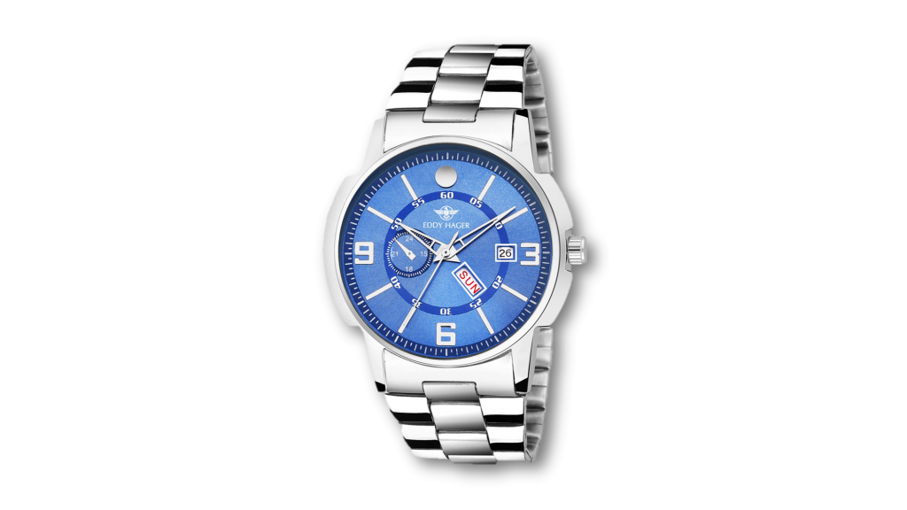 blue Eddy Hager watch for cool look under 500