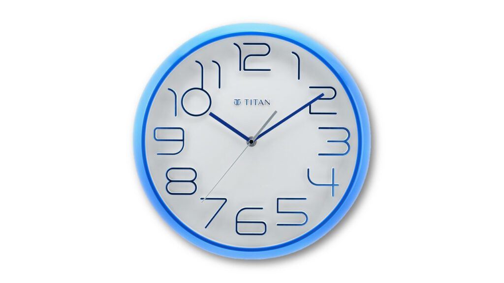 Titan contemporary wall clock for bedroom